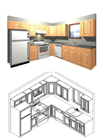 Rcs custom kitchens for Kitchen design 43055