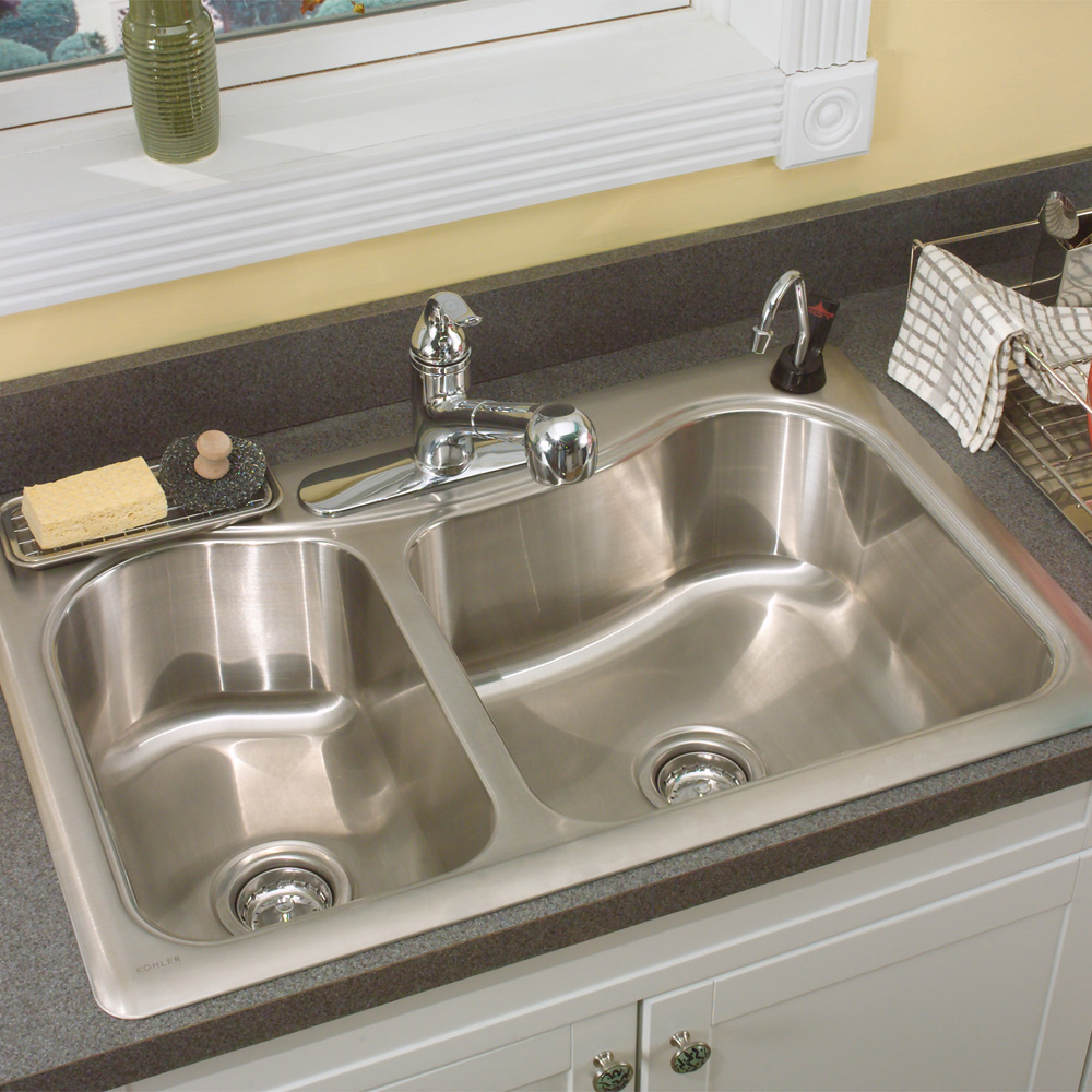 drop in kitchen sink with granite counter